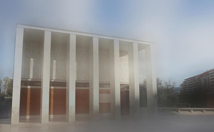 Monument avec un effet de flou créatif