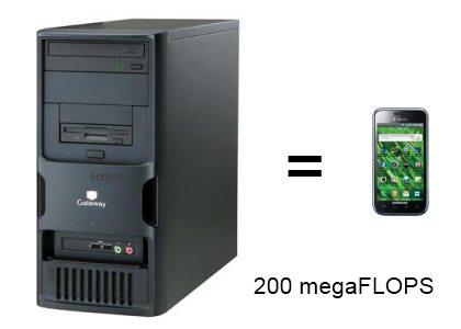 Un smartphone de 2011 a la puissance d'un ordinateur de bureau de 2006